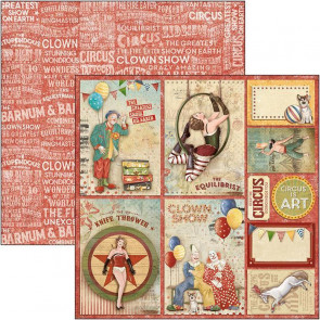 "Ciao Bella Double-Sided Cardstock 90lb 12x12"" The Greatest Show, Circus Cards"