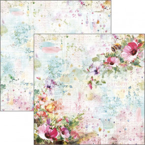 "Ciao Bella Double-Sided Cardstock 12x12"" Microcosmos Wildflowers"