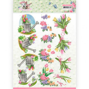 Yvonne Creations A4 3D Klippeark - Spring Is Here
