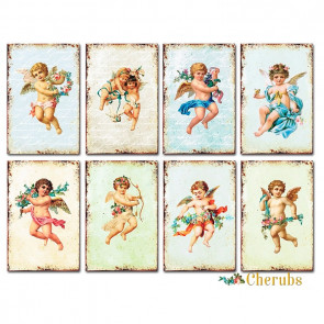 Decorer Scrapbook Sæt Mini Mini - Cherubs TASTER