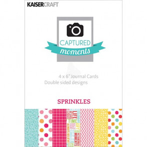 "KaiserCraft Captured Moments Themed Cards 4x6"" - Sprinkles TASTER"