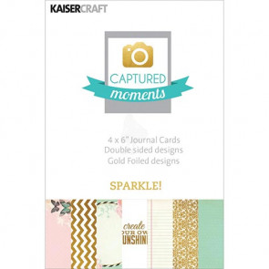"KaiserCraft Captured Moments Double-Sided Cards 4x6"" - Sparkle! With Some Gold Foiled Designs TASTER"