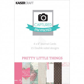 "KaiserCraft Captured Moments Double-Sided Cards 6x4"" - Pretty Little Things TASTER"