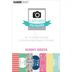 "KaiserCraft Captured Moments Double-Sided Cards 4x6"" - Sunny Siesta TASTER"