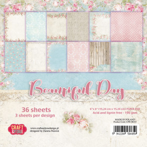 "Craft & You Design Dobbeltsidet Paper Pad 6x6"" Beautiful Day TASTER"