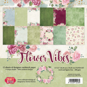 "Craft & You Flower Vibes 12x12"" Paper Set"