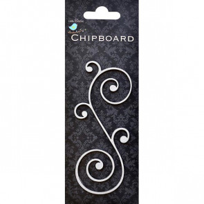 Little Birdie Spiral Scroll 1pc Chipboard