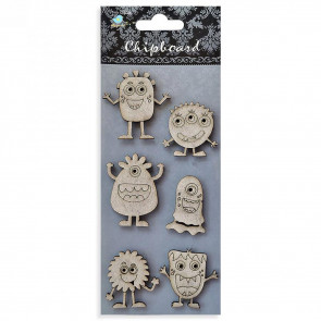 Little Birdie Chipboard Monsters 6Pcs