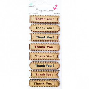 Little Birdie Corrugated Kraft Thank You Word 8pcs Expressions