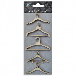 Little Birdie Chipboard Cloth Hanger 5Pcs