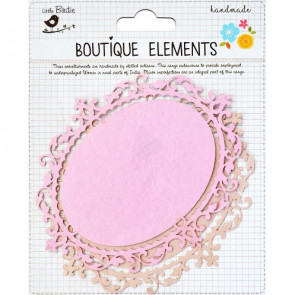 Little Birdie Laser Cut Oval Panels Raspberry Ice 2pcs