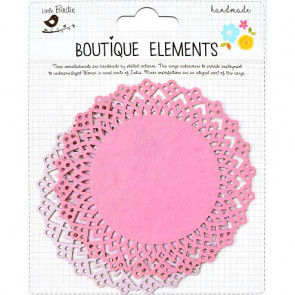"Little Birdie Laser Cut Doilies 4x4"" Mulberry Blush 2pcs Boutique"