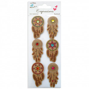 Little Birdie Kraft Printed Dream Catcher 6pcs Expressions