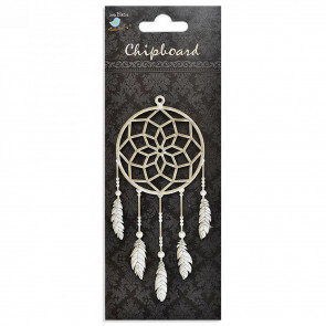 Little Birdie Chipboard Dream Catcher With Feather 1Pcs