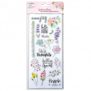 Little Birdie Water Color Sticker Collection Daisies 1pc