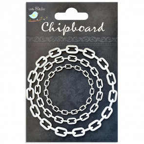 Little Birdie Chipboard Chain Cycle 3Pcs
