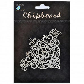Little Birdie Chipboard Baroque Corners 1Pcs