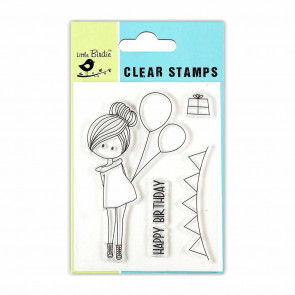 Little Birdie Clear Stamps - Birthday Wish 3x4 4pc