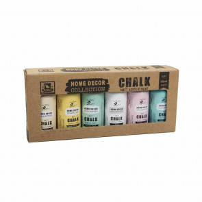 Little Birdie Chalk Matt Acrylic Paint - Pastel Shades 60ml 6pc