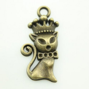 Charms 1,5x3,1cm Antik Bronze Royal Kat