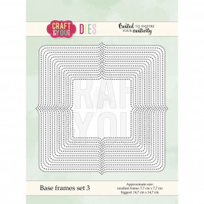 Craft & You Design Dies - Base Frames Set 3