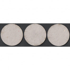 Circles Die-Cut Grey Chipboard Embellishment - 3 stks