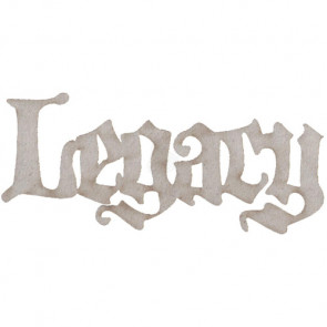 Legacy Die-Cut Grey Chipboard Word