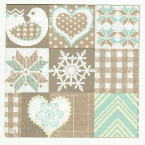 Decoupage Servietter - Country Christmas Quilt
