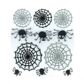 Jolee's Boutique Halloween Stickers - Cute Spiders & Webs