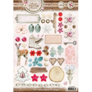 StudioLight Easy Labels Punched Sheet A4 #502 Sweet Winter Season