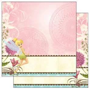 "Disney Speciality Paper 12x12"" - Tinker Bell Scallop Border"