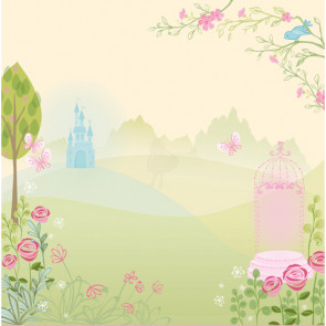 "EK Success Disney 12x12"" Glitter Papir - Princess Fairytale Land"