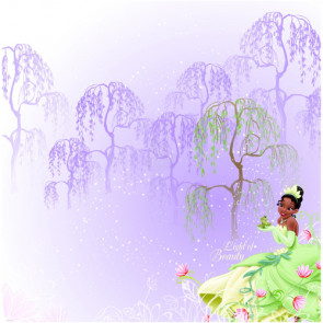 "EK Success Disney 12x12"" Glitter Papir - Princess Tiana"