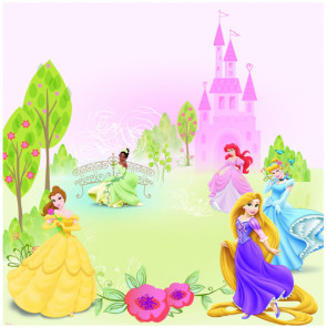 "EK Success Disney 12x12"" Glitter Papir - Princess Multi"