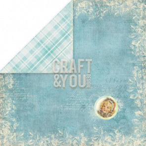 "Craft & You Design Frozen Dobbeltsidet Cardstock 12x12"" Paper - 06"