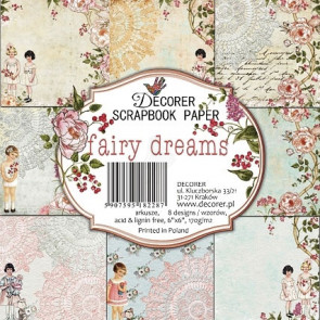 "Decorer Papir Pakke 6x6"" - Fairy Dreams TASTER"