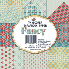 "Decorer Papir Pakke 6x6"" - Fancy TASTER"