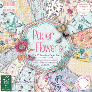 """Trimcraft First Edition Premium Paper Pad 6x6"""" - Paper Flowers TASTER"""