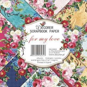 "Decorer Papir Pakke 6x6"" - For My Love TASTER"