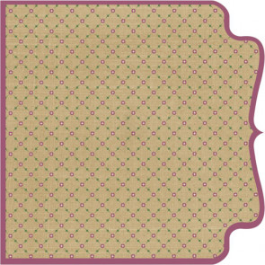 "Kraft Kuts Die-Cut Paper 12x12"" - Girl Lattice"