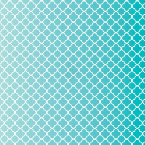 "Core'dinations Core Basics Patterned Cardstock 12x12"" - Teal Quatrefoil"