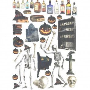 "LaBlanche A4 Lasered Sheet ""Halloween Skeleton"""