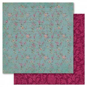 "Ruby Rock-It Heritage Dobbeltsidet Cardstock 12x12"" - Pretty Floral"