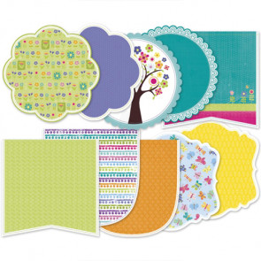 LYB Hello Spring Decorative Edge Double-Sided Cardstock 6x6""