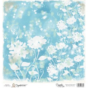 "Magnolia Ink Princes & Princesses Mini Paper 6""X6"" - Blue Heart Flowers"