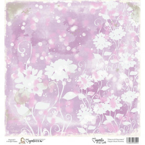 "Magnolia Ink Princes & Princesses Mini Paper 6""X6"" - Purple Heart Flowers"