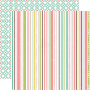 "Echo Park Bundle Of Joy Girl Double-Sided Cardstock 12x12"" - Sweet Stripe"