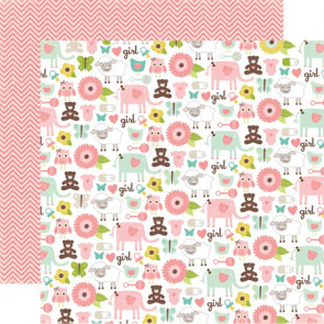 "Echo Park Bundle Of Joy Girl Double-Sided Cardstock 12x12"" - It's A Girl!"