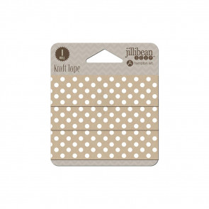 "Jillibean Soup Staples Kraft Tape 1""x30' - Dots"