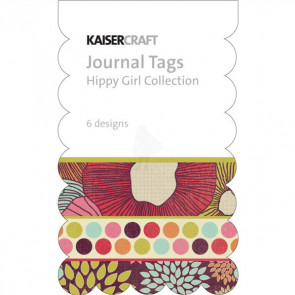 KaiserCraft Hippy Girl Mini Journal Tags Die-Cut Paper Pad TASTER